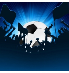 Football fans crowd vector