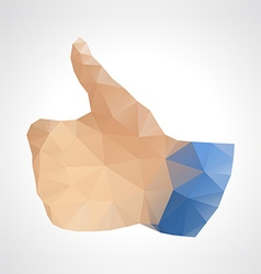 Geometric abstract like button up hand vector