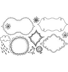 Hand drawn frames vector