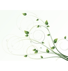 Floral seasonal background with swirls vector