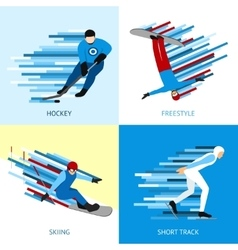 Winter sportsman design concept vector