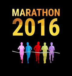 Marathon background vector