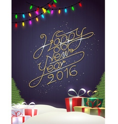 Happy new year background with element vector