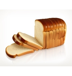 Sliced fresh wheat bread vector