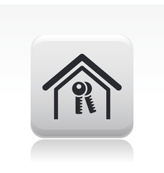 home key icon vector image
