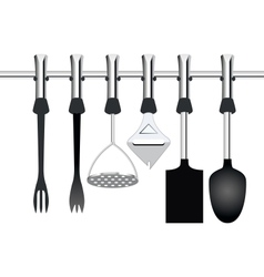 Kitchen items related to cooking vector