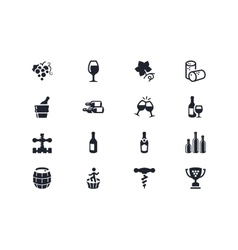 Wine industry icons Lyra series vector image