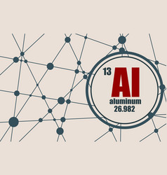 aluminum chemical element vector image