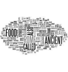 Ancient rome architecture text word cloud concept vector
