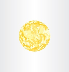 Autumn yellow abstract globe circle background vector