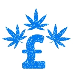 Cannabis Pound Business Grainy Texture Icon vector image vector image
