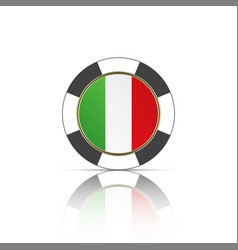casino poker chips with italian flag simple vector image