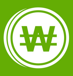 Coins wont icon green vector
