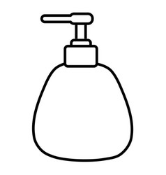 dispenser pump cosmetic icon outline style vector image vector image