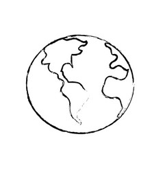 Figure global earth plenet with geography vector