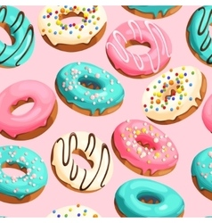 Glazed donuts seamless vector image vector image