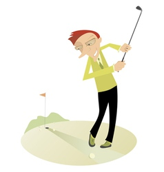 Good day for playing golf4 vector image vector image