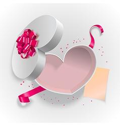 Heart box shape vector
