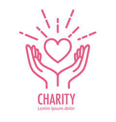 Logo template for charity vector
