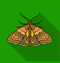 Moth icon in flat style isolated on white vector