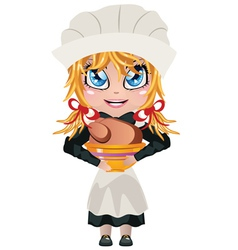 Pilgrim girl vector