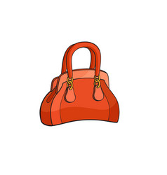 pop art style handbag sticker vector image