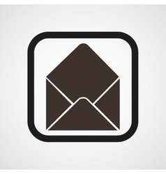 Post open envelope horn icon simple vector
