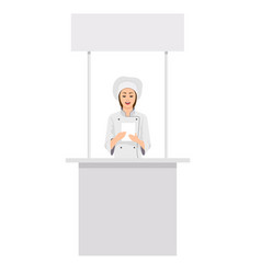 promotion counter retail trade stand vector image vector image