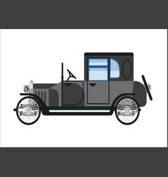 Retro old car or vintage retro collector vehicle vector