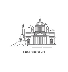saint petersburg logo isolated on white background vector image