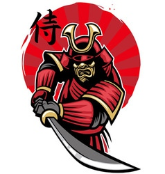 samurai warrior vector image