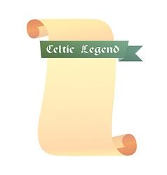 Scroll Celtic Legend vector image vector image