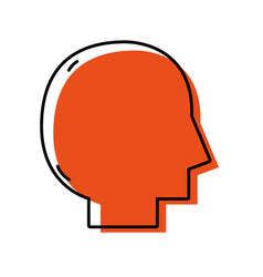 silhouette man head vector image