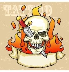 Skull Tattoo Design vector image