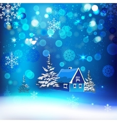 Snow village vector