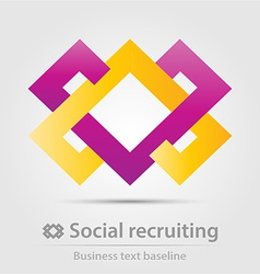 Social recruiting business icon vector image vector image