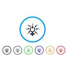 Sperm penetration rounded icon vector