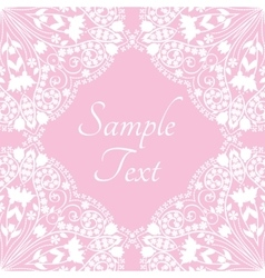 Template with abstract floral background vector image vector image
