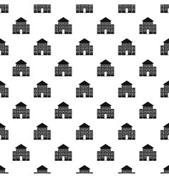 Three storey house pattern simple style vector