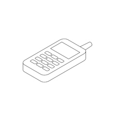 Toy phone icon isometric 3d style vector