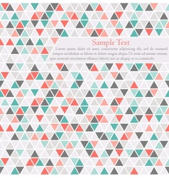 Triangle background card template with place for vector