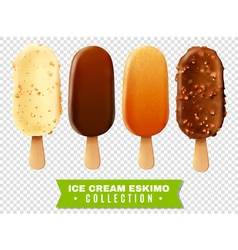Ice cream eskimo pie collection vector