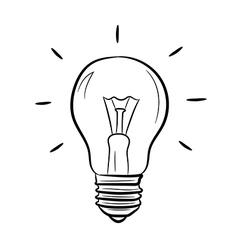Light bulb on white background of vector image