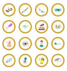 Virus cartoon icon circle vector