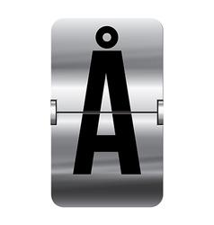 Alphabet silver flipboard letters aa vector image
