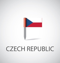 Czech flag pin vector