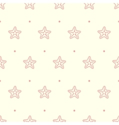 Pastel seamless pattern with sea starfish vector