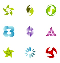 Logo design elements set 50 vector