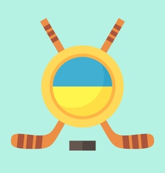 Hockey in ukraine vector