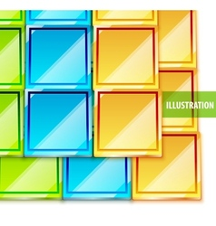 Color glossy tiles background vector